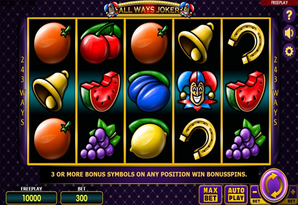 All Ways Joker 777 Slots Bay game