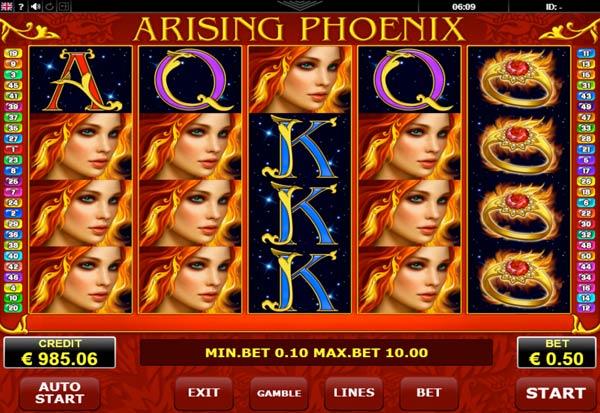 Arising Phoenix 777 Slots Bay game