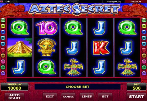Aztec Secret 777 Slots Bay game