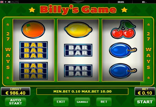 BillysGame 777 Slots Bay game