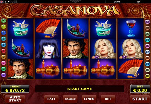 Casanova 777 Slots Bay game