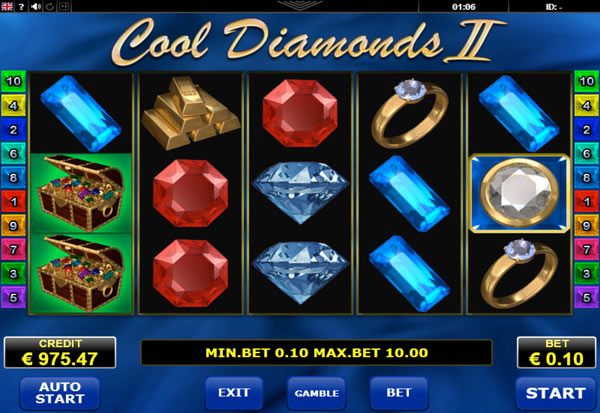 Cool Diamonds II 777 Slots Bay game