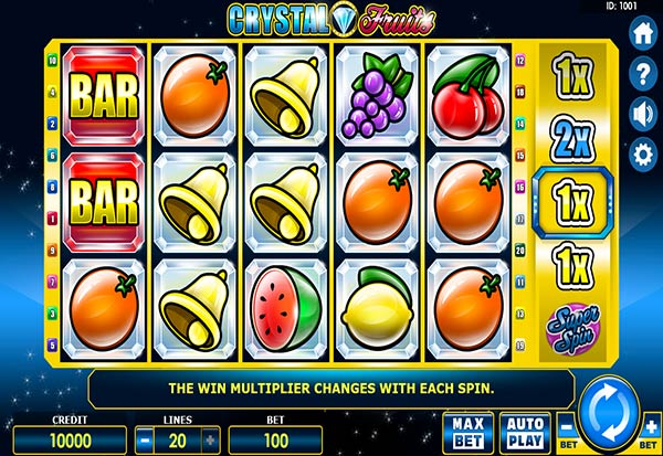 Crystal Fruits 777 Slots Bay game