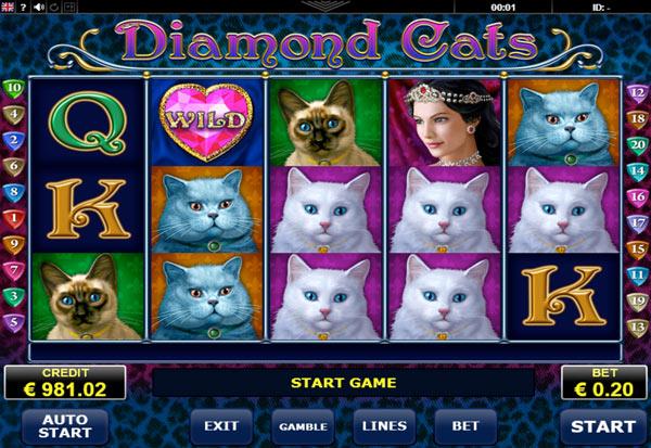 Diamond Cats 777 Slots Bay game