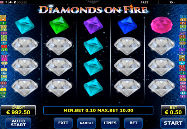 Diamonds on Fire 777 Slots Bay game