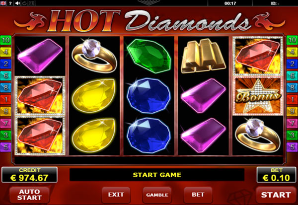 Hot Diamonds 777 Slots Bay game