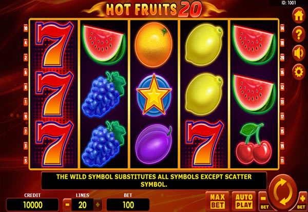 Hot Fruits 20 777 Slots Bay game