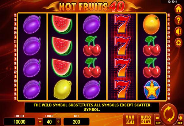 Hot Fruits 40 777 Slots Bay game
