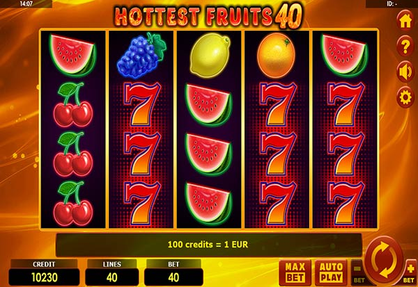 Hottest Fruits 40 777 Slots Bay game