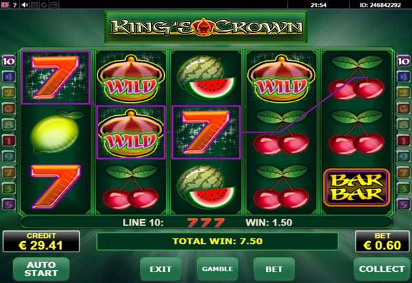 Kings Crown 777 Slots Bay game