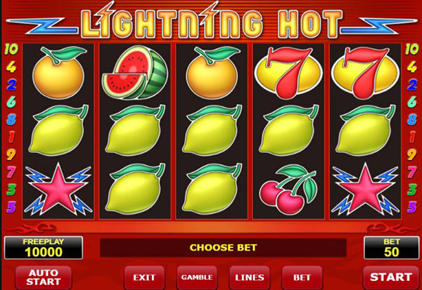 Lightning Hot 777 Slots Bay game
