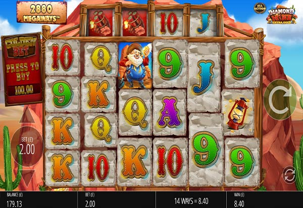 Diamond Mine Extra Gold All Action 777 Slots Bay game