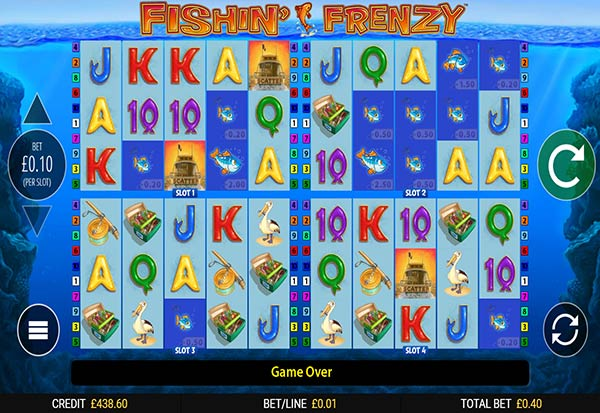 Fishin Frenzy Power 4 Slots 777 Slots Bay game