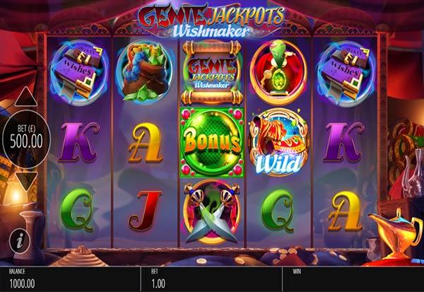 Genie Jackpots Wishmaker 777 Slots Bay game