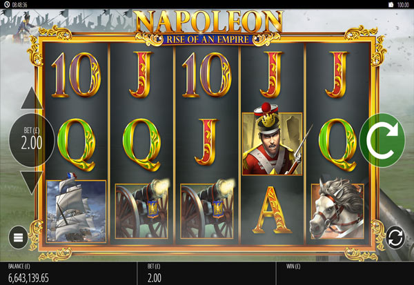 Napoleon: Rise of an Empire 777 Slots Bay game