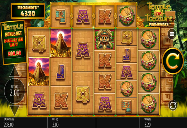 Temple of Treasures Megaways 777 Slots Bay game