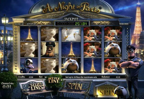 A Night in Paris 777 Slots Bay game