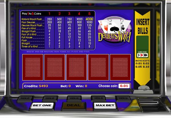 Deuces Wild 777 Slots Bay game