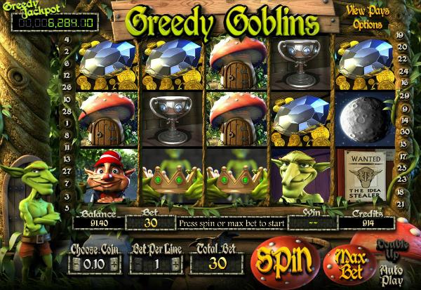 Greedy Goblins 777 Slots Bay game