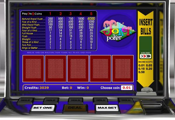 Joker Poker 777 Slots Bay game