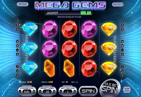Mega Gems 777 Slots Bay game
