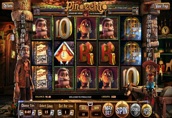 Pinocchio 777 Slots Bay game
