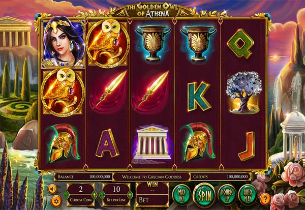 The Golden Owl Of Athena 777 Slots Bay game