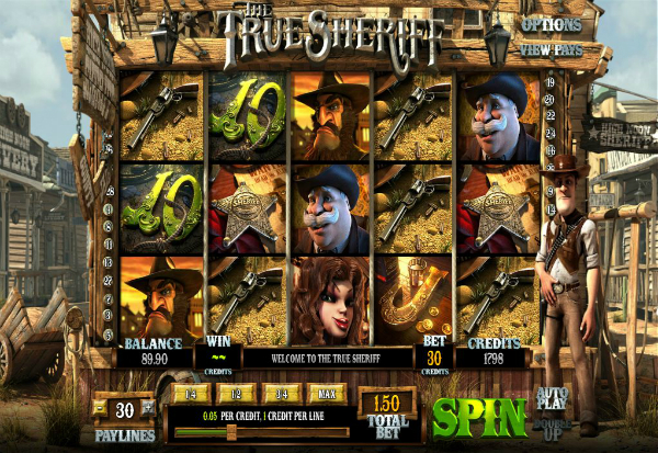 The True Sheriff 777 Slots Bay game