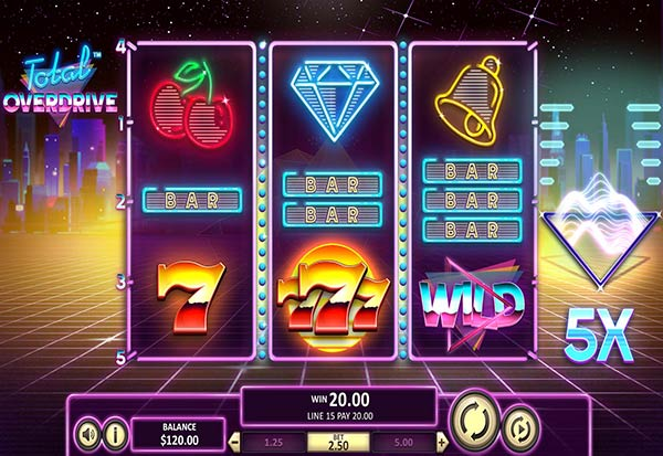 Total Overdrive 777 Slots Bay game