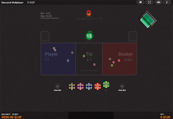Multiplayer Baccarat 777 Slots Bay game