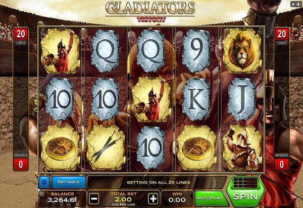 Gladiators Victory 777 Slots Bay game
