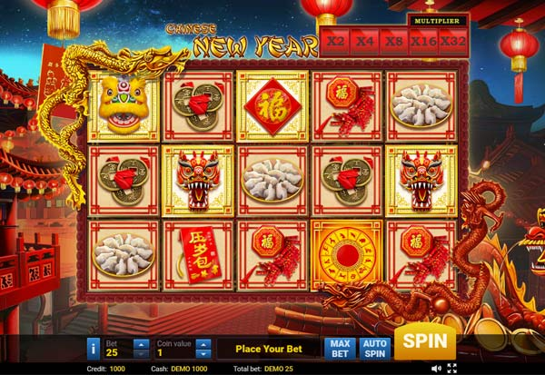 Chinese New Year 777 Slots Bay game
