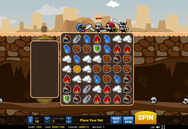 Epic Gladiators 777 Slots Bay game