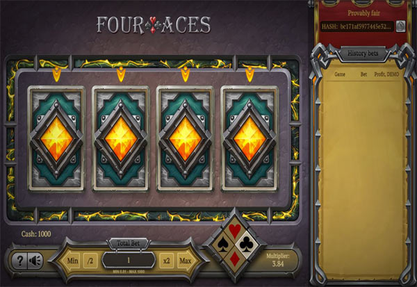 Four Aces 777 Slots Bay game