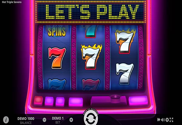 Hot Triple Sevens 777 Slots Bay game