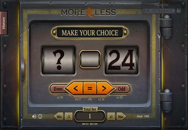 More Or Less 777 Slots Bay game