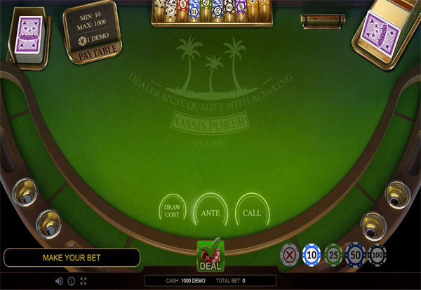 Oasis Poker Classic 777 Slots Bay game