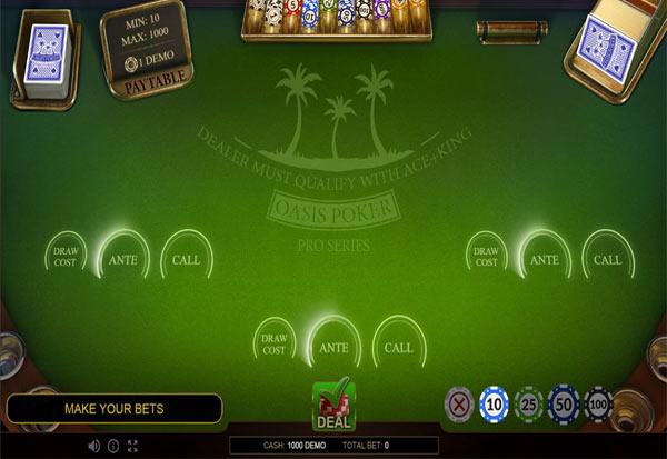 Oasis Poker Pro Series 777 Slots Bay game
