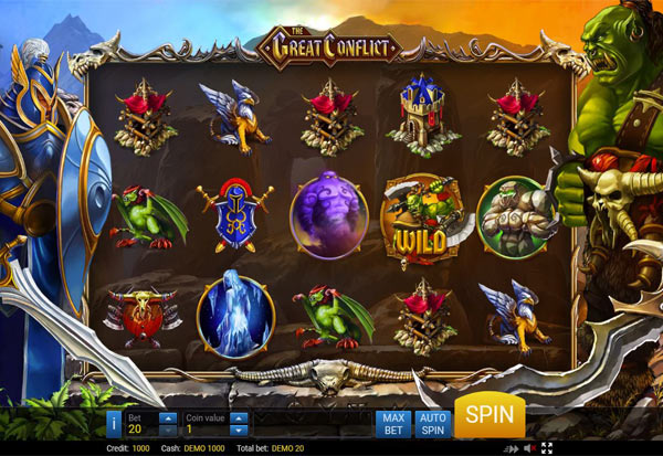 The Great Conflict 777 Slots Bay game