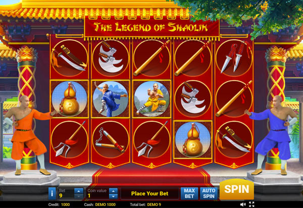 The Legend of Shaolin 777 Slots Bay game