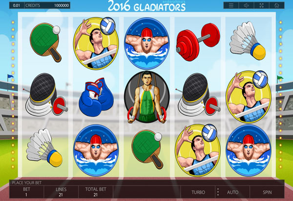 2016 Gladiators 777 Slots Bay game