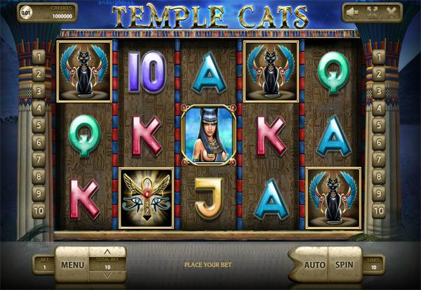 Temple Cats 777 Slots Bay game