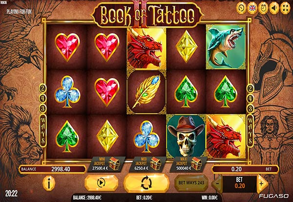 Book of tattoo 2 777 Slots Bay game