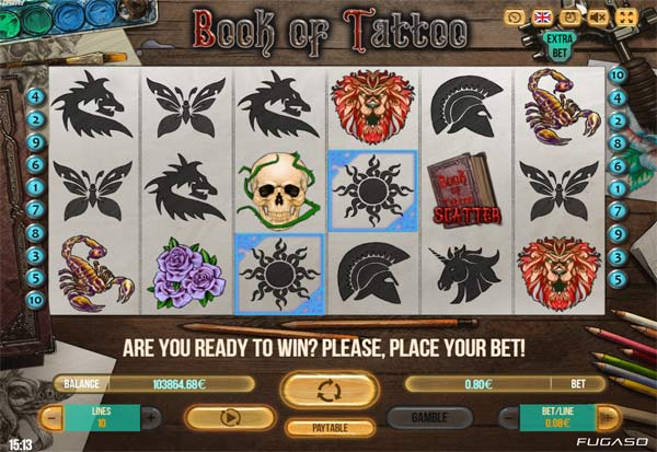 Book Of Tattoo 777 Slots Bay game