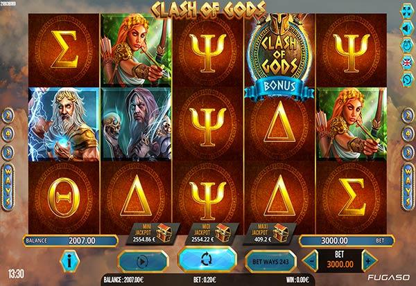 Clash of Gods 777 Slots Bay game