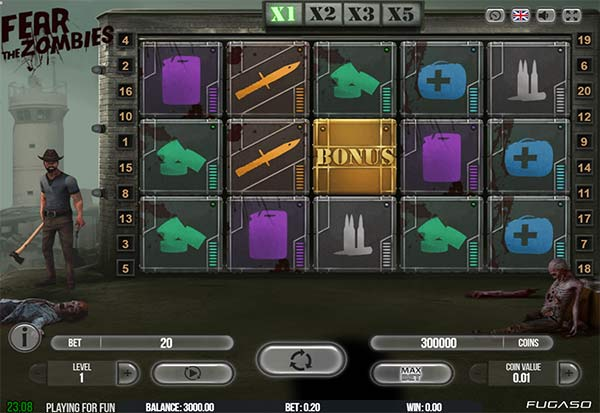 Fear The Zombies 777 Slots Bay game