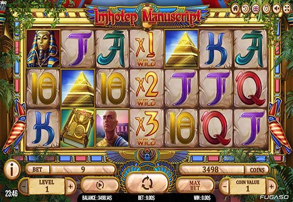 Imhotep Manuscript 777 Slots Bay game