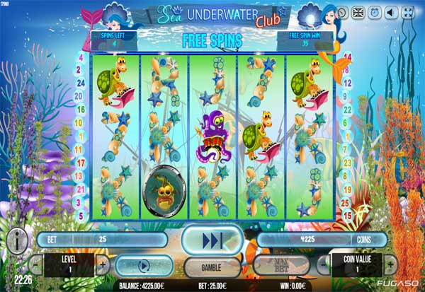 Sea Underwater Club 777 Slots Bay game