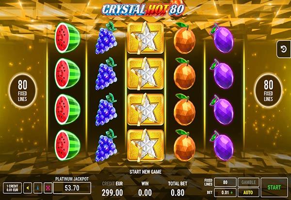 Crystal Hot 80 777 Slots Bay game