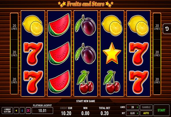 Fruits and Stars 777 Slots Bay game